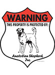 Anatolian Shepherd! Property Patrolled Badge Sign and Sticker