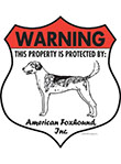 American Foxhound! Property Patrolled Badge Sign and Sticker