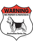 Australian Terrier Badge Shape Signs