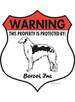Borzoi Badge Shape Signs