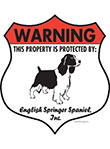 English Springer Spaniel Badge Shape Signs
