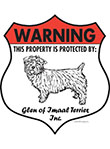 Glen of Imaal Terrier! Property Patrolled Badge Sign