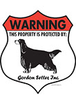 Gordon Setter Badge Shape Signs