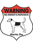 Harrier! Property Patrolled Badge Sign and Sticker