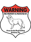 Nova Scotia Duck Tolling Retriever! Property Badge Sign