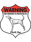 Plott! Property Patrolled Badge Sign and Sticker