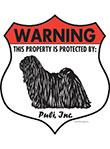 Puli! Property Patrolled Badge Sign and Sticker