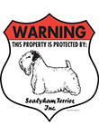 Sealyham Terrier! Property Patrolled Badge Sign and Sticker