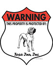 Tosa Inu! Property Patrolled Badge Sign and Sticker