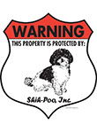 Shih-Poo! Property Patrolled Badge Sign and Sticker