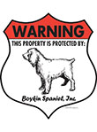 Boykin Spaniel! Property Patrolled Badge Sign and Sticker