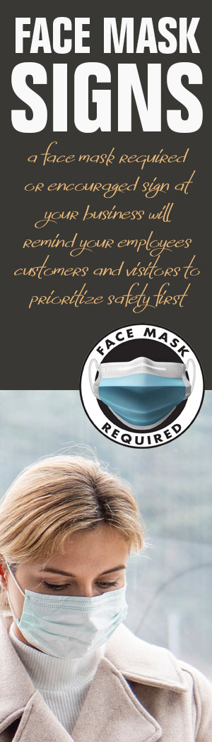 Face Mask Sign Promo