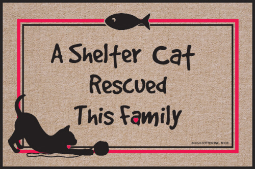A Shelter Cat Rescued This Family Indoor/Outdoor Doormat