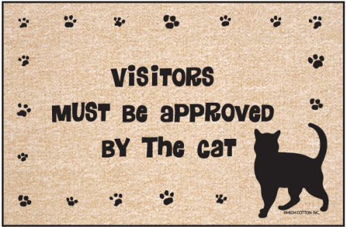 Visitors Must Be Approved By the Cat Indoor/Outdoor Doormat