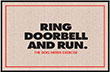 Ring Doorbell and Run Dog Indoor/Outdoor Doormat