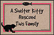 Shelter Kitty Rescued This Family Indoor/Outdoor Doormat