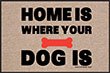 Home is Where Your Dog Is Indoor/Outdoor Doormat