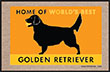 Home of the World's Best Golden Retriever Indoor/Outdoor Doormat