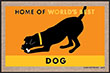 Home of the World's Best Dog Indoor/Outdoor Doormat