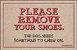 Please Remove your Shoes Dog Indoor/Outdoor Doormat