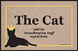 Cat & Housekeeping Staff Reside Here Indoor/Outdoor Doormat