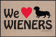 We Love Wieners Indoor/Outdoor Doormat