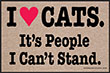 I Love Cats. It's People I Can't Stand