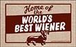 Home of the World's Best Wiener Indoor/Outdoor Doormat
