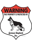 German Shepherd Badge Shape Signs