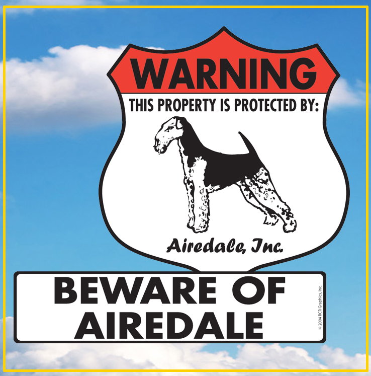 Airedale Terrier Dog Signs