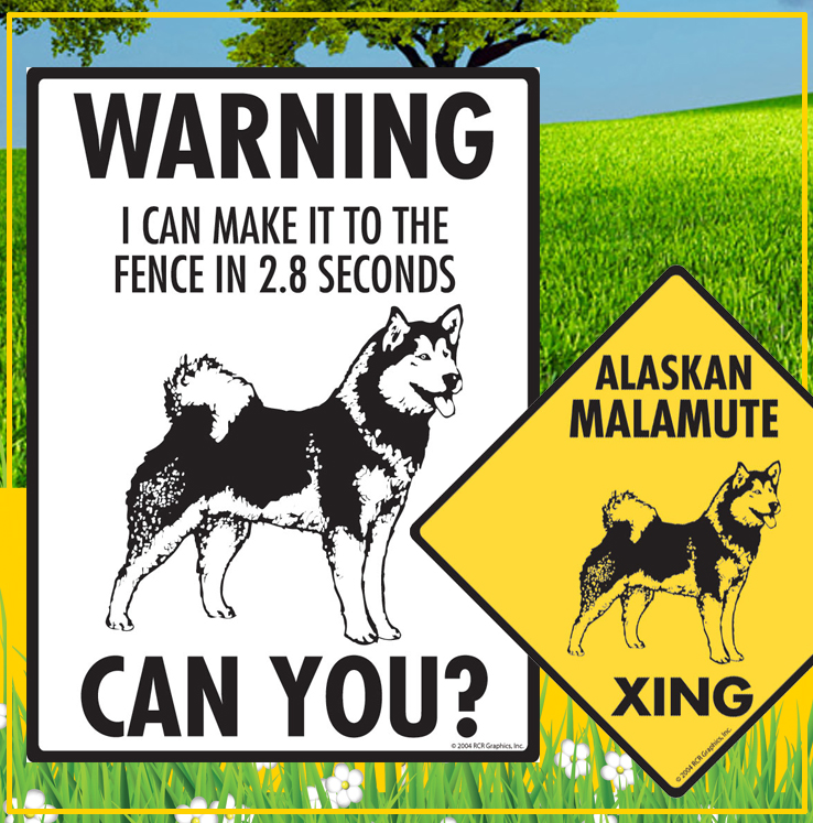 Alaskan Malamute Dog Signs