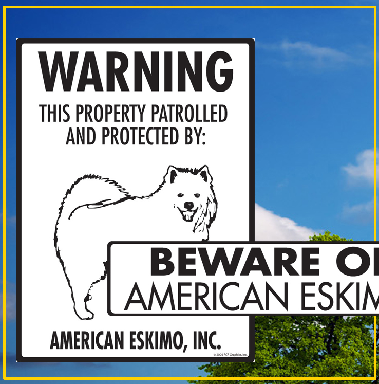 American Eskimo Dog Signs