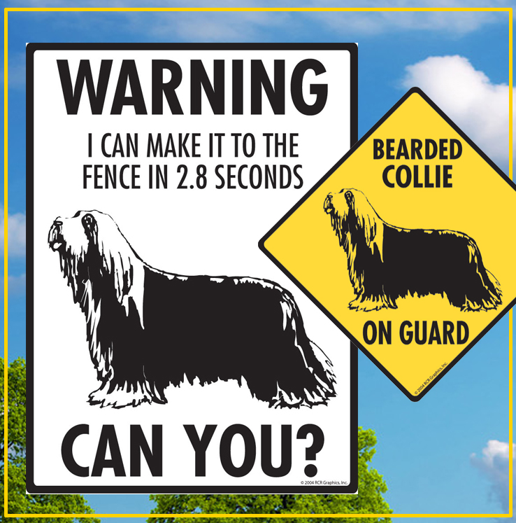 Bearded Collie Dog Signs
