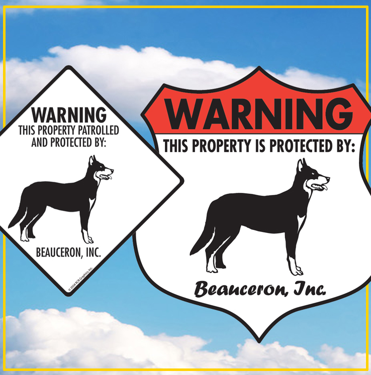Beauceron Dog Signs