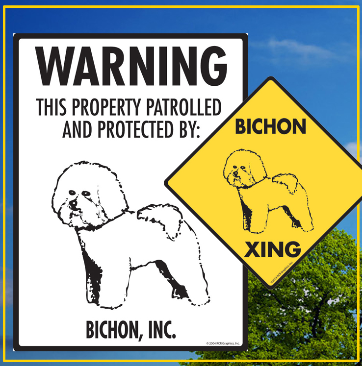 Bichon Frise Dog Signs