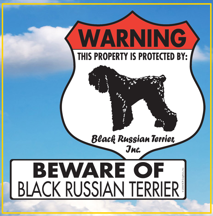 Black Russian Terrier Dog Signs