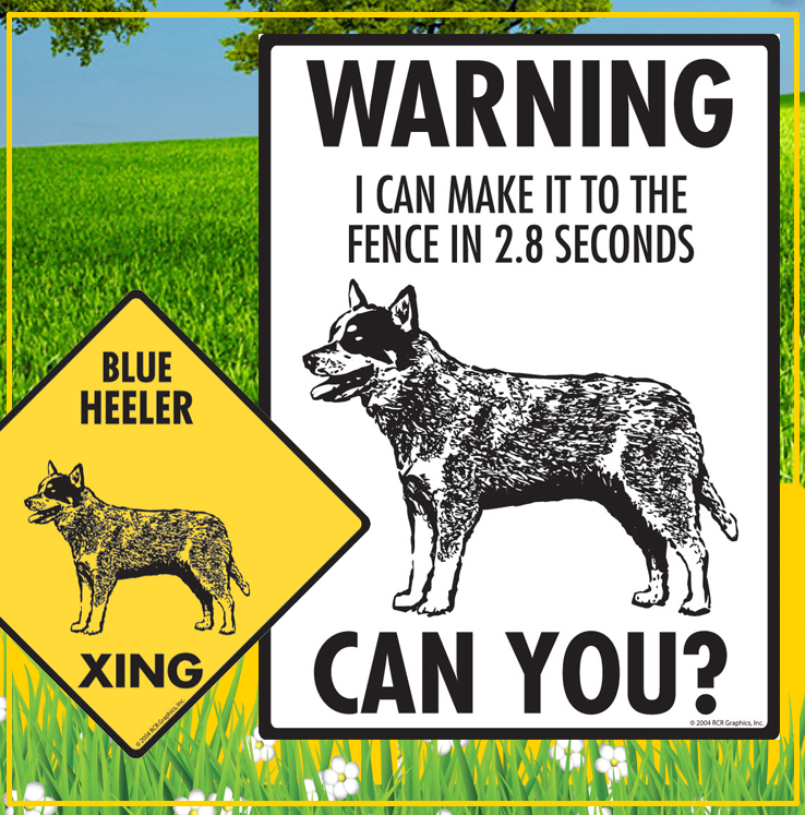 Blue Heeler Dog Signs