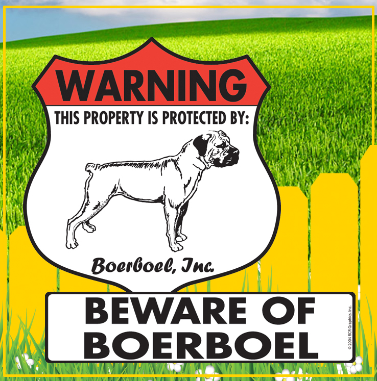 Boerboel Dog Signs