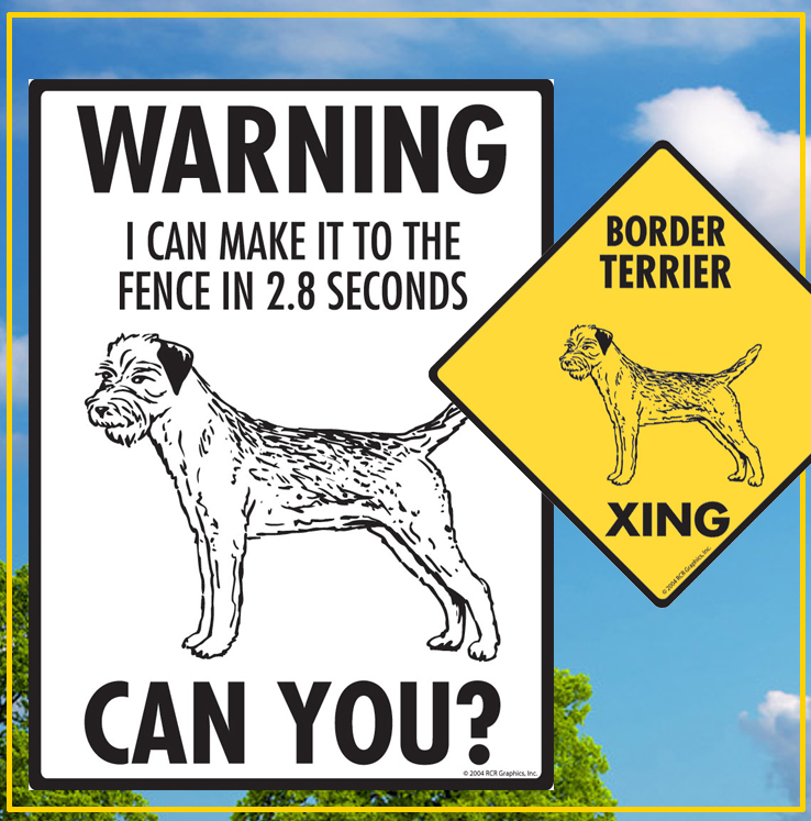 Border Terrier Dog Signs