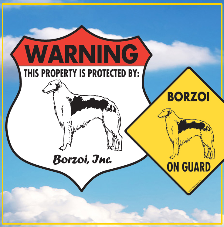 Borzoi Dog Signs