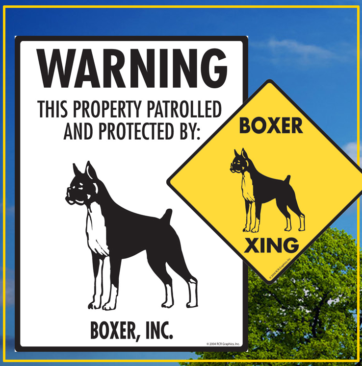 Boxer Dog Signs
