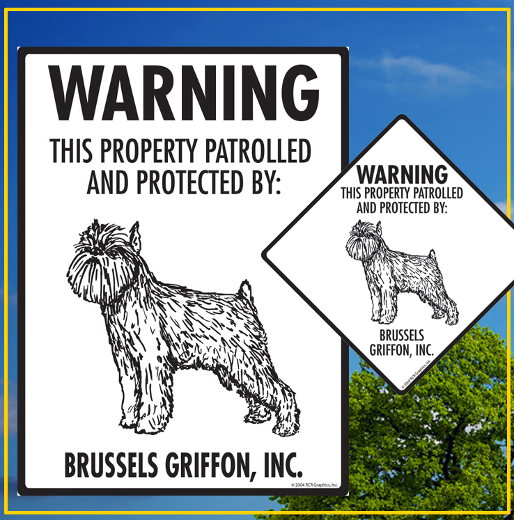 Brussels Griffon Dog Signs