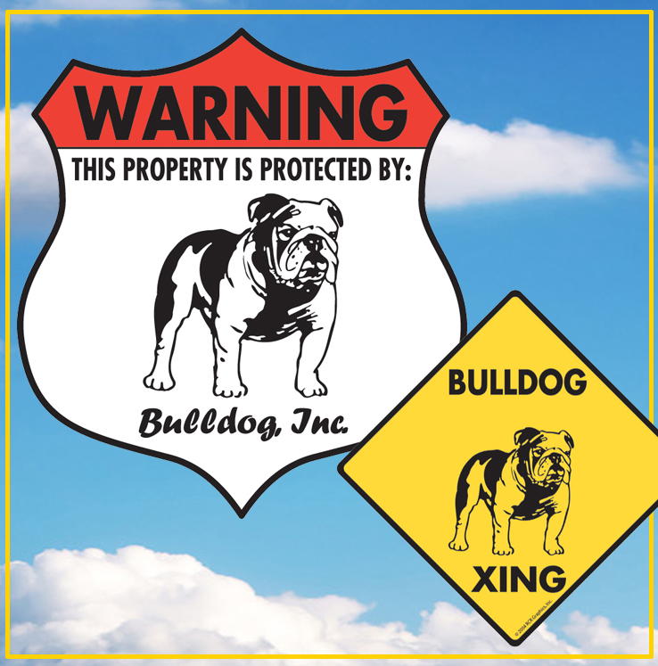 Bulldog Dog Signs