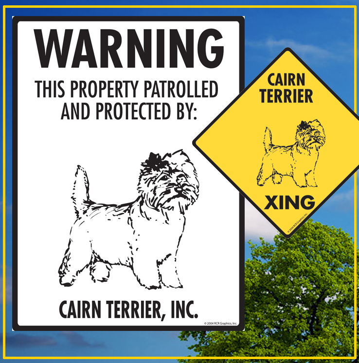 Cairn Terrier Dog Signs