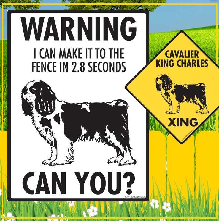 Cavalier King Charles Dog Signs