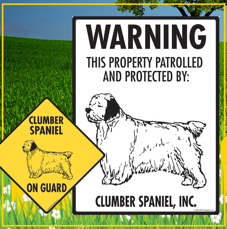 Clumber Spaniel Dog Signs
