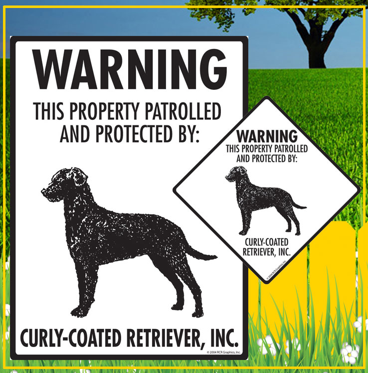 Curly-Coated Retriever Dog Signs