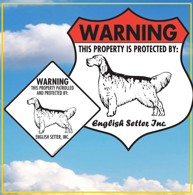 English Setter Dog Signs
