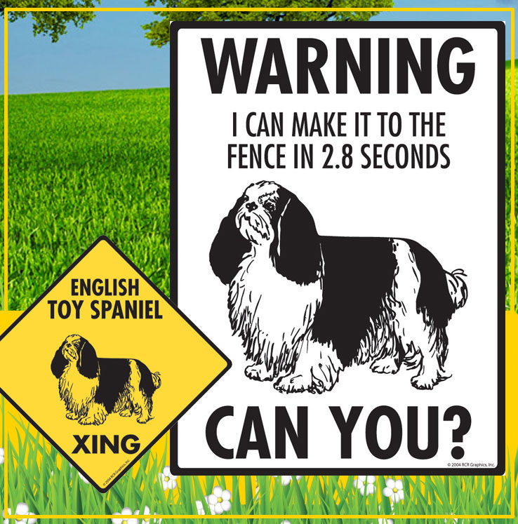 English Toy Spaniel Dog Signs