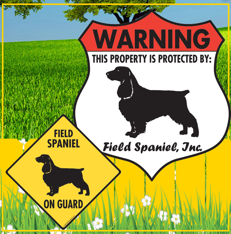 Field Spaniel Dog Signs